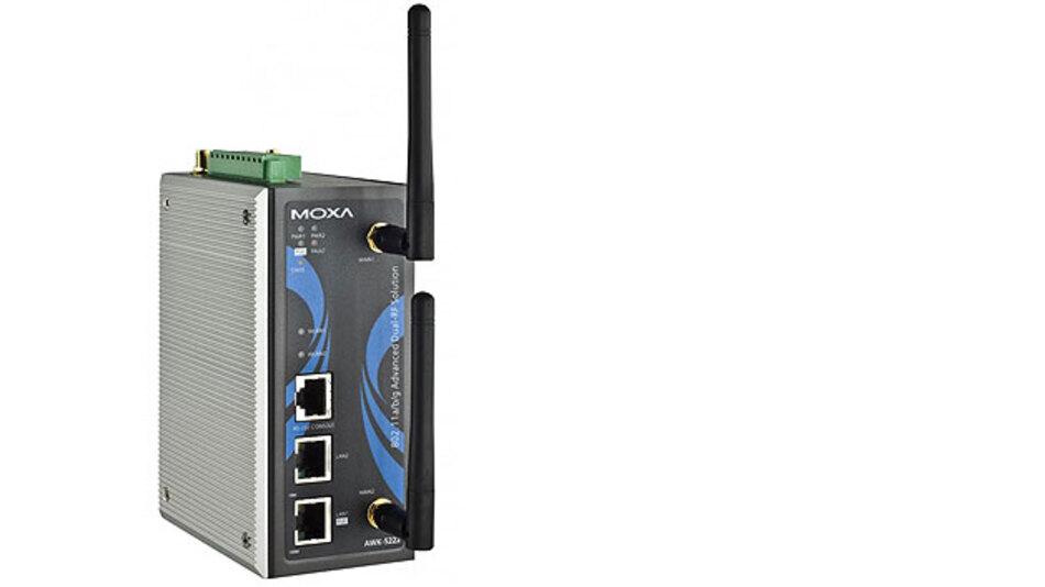 Moxa setzt die sogenannte »Zero Wireless Packet Loss«-Technologie in den Industrial Wireless Access Points der Serie AWK-5222 und AWK-6222 ein.