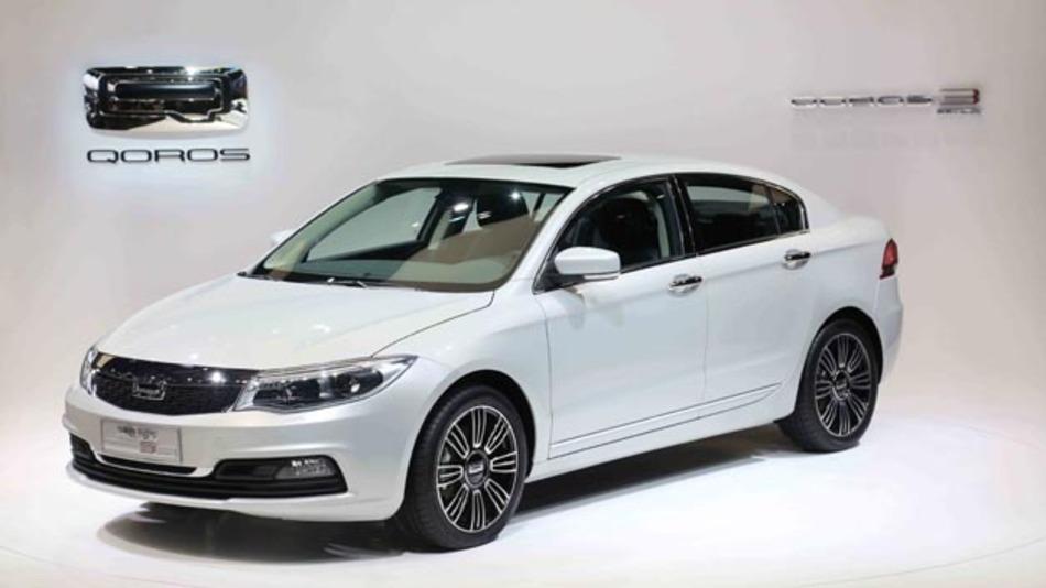 Der chinesische Hersteller Qoros setzt auf e-AAM-Technologie. Hier im Bild der Qoros Sedan.