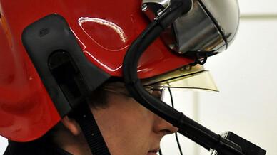 TU Wien, Feuerwehrhelm mit Datenbrille und Wärmebildkamera