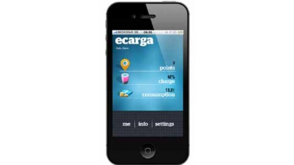 Die App, die in die ecarga-Ladestellenlösung für Elektrofahrzeuge von Atos Worldgrid integriert ist, sucht weltweit nach der nächstgelegenen Ladestelle.