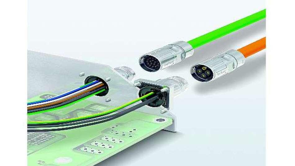 Bild 1: Die M17-Steckverbinder im Miniaturformat sorgen für eine hohe Leistung bei geringer Baugröße