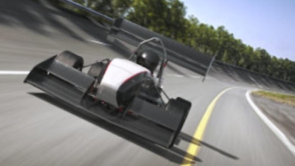 Elektro-Rennwagen des AMZ Racing Teams