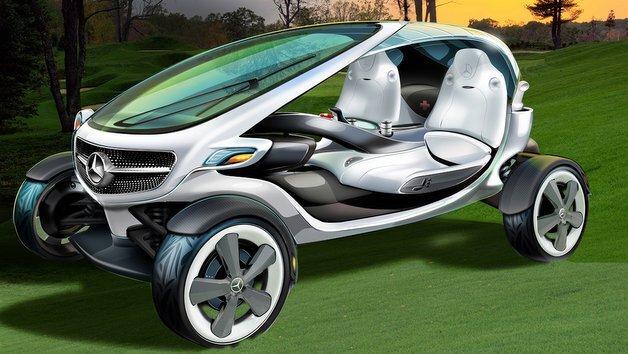 So stellt sich Mercedes-Benz die Zukunft des Golf Carts vor.