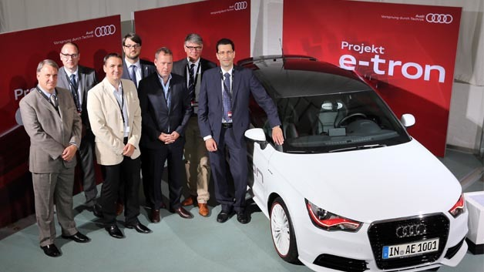 "Audi engagiert sich für das E-Mobility-Projekt ""e-NUE""."