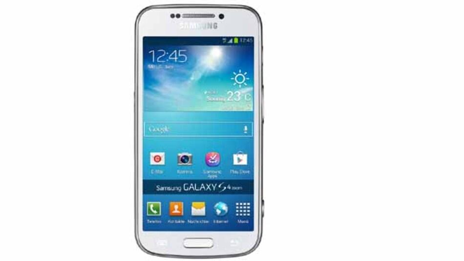 Das Galaxy S4 in seiner bekannten Technologie bildet den Mobilfunk- und Computer-Teil des Gerätes.