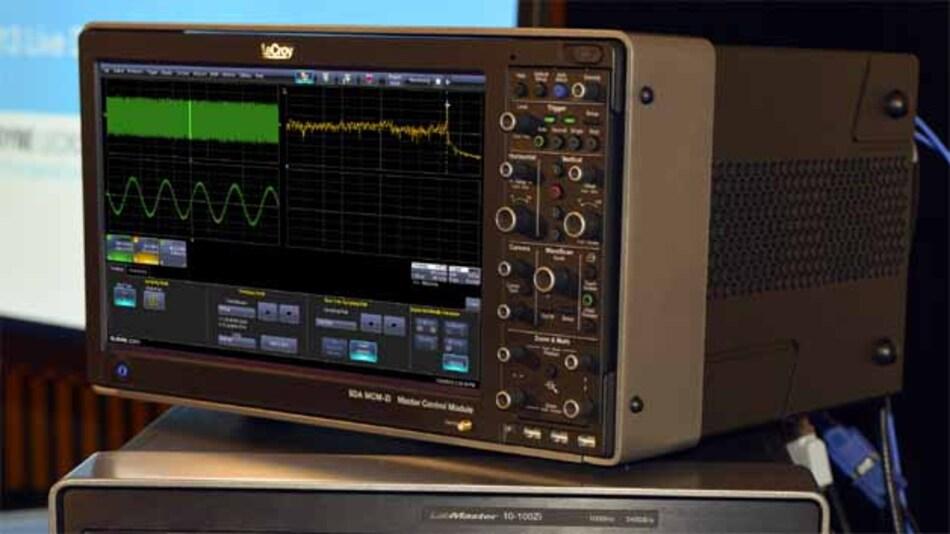 Das gab es bislang nicht: 100-GHz-Signale wurden von dem neuen Scope mit 240 GS/s in Echtzeit (nicht Sampling) abgetastet und dargestellt.