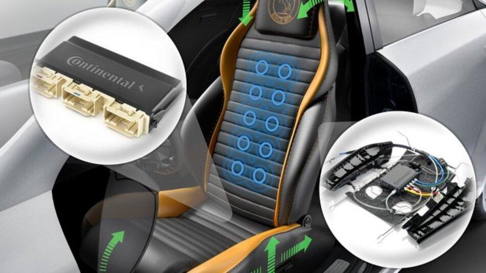 Der Elektronikanteil bei Autositzen wird immer größer.