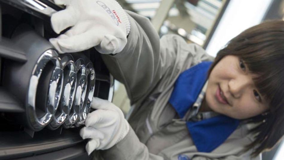 Audi konnte in China das zweimillionste Fahrzeug, einen A6 L ausliefern.