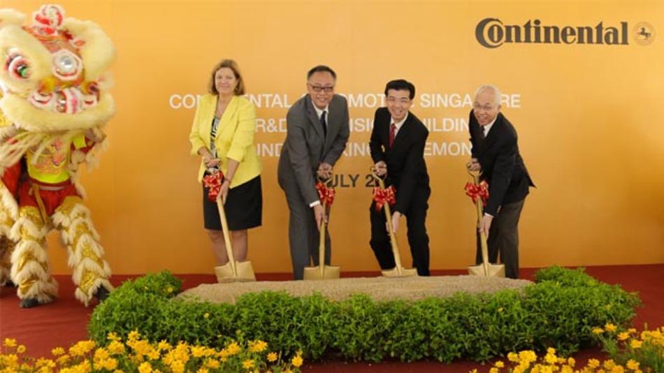 Continental investiert in ein neues Erweiterungsgebäude zum Ausbau seiner Forschungs- und Entwicklungskapazitäten in Singapur.