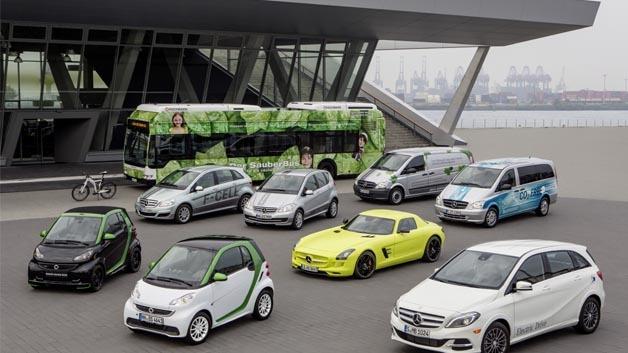 Daimler ist mit seinen Elektroautos wie dem Elektro-smart top.