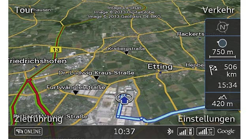 Der schnelle Datenübertragungsstandard LTE ist ab sofort für den Audi S3 Sportback bestellbar.