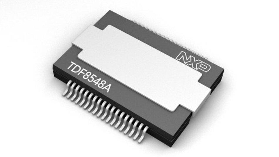Der TDF8548A von NXP verfügt über eine Ausgangsleistung von 4 x 28 W.