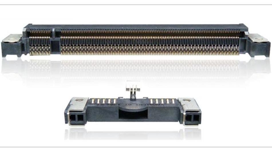Bord-Edge-Steckverbinder von Yamaichi Electronics für die schnelle Datenübertragung.