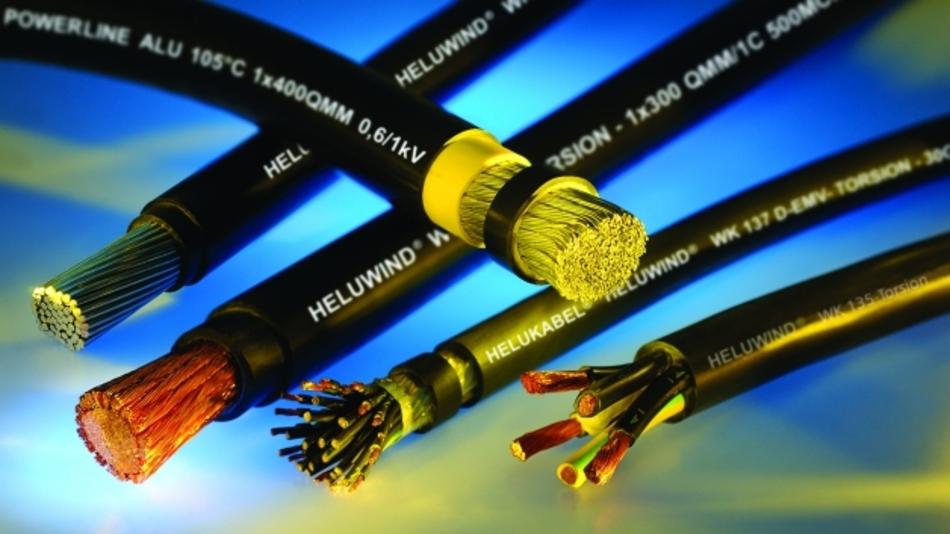 Vom Leistungskabel über Glasfaserkabel für die Infrastruktur: Helukabel bietet das individuelle Vollsortiment für Windkraftanlagen.
