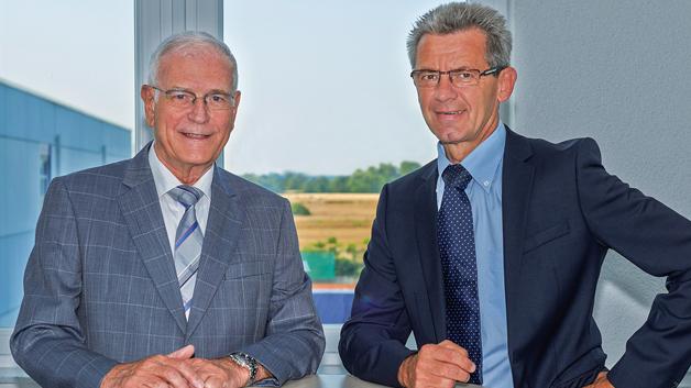 Lothar Kümmerlin, CEO der MSC Gleichmann-Gruppe (rechts im Bild), und Manfred Schwarztrauber, Chairman der MSC Gleichmann-Gruppe