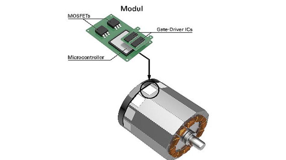 Günstigere Elektrofahrzeuge durch motorintegrierte Leistungselektronik