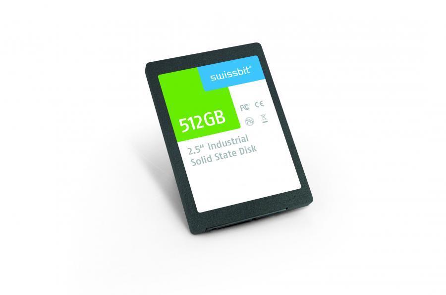 Die 2,5-Zoll-SSD-Serie »X-500« von Swissbit nutzt EM-MLC-Flash zur zuverlässigen Datenspeicherung.