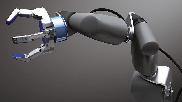 Synapticon entwickelt komplette mechatronische Systeme, etwa die Mechanik, die Elektronik und die Software eines Roboterarms mit sechs Freiheitsgraden, Greifer und vielen Sensoren.