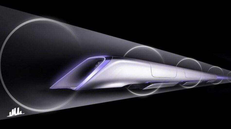 So stellt sich Elon Musk das Hyperloop-Projekt vor.