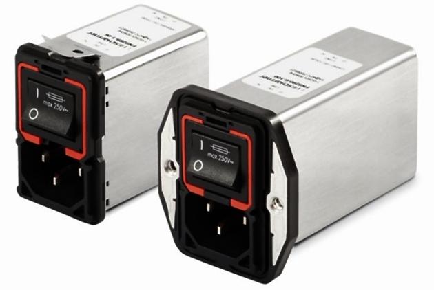 Einstufige IEC-Steckerfilterversion FN9280 und die zweistufige Variante FN9290