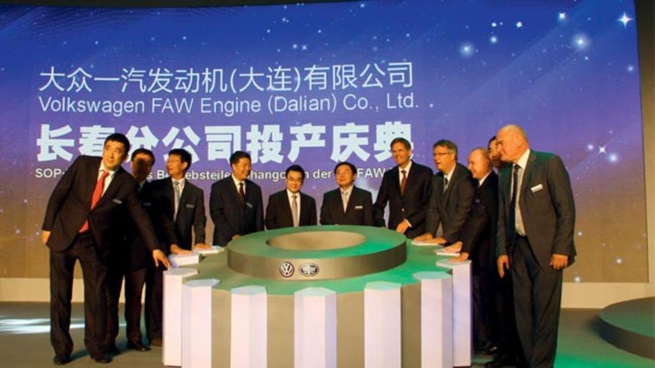 Eröffnungszeremonie des Motorenwerkes Changchun