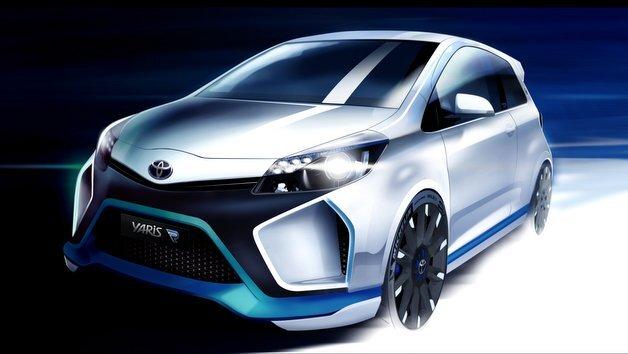 Das Konzeptfahrzeug Yaris Hybrid-R von Toyota.