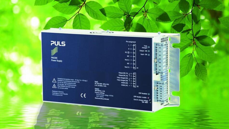 Eine der hauptsächlichen Anwendungsbereiche des PAS395 ist die Aufladung von Doppelschichtkondensatoren in Windkraftanlagen: Im Vergleich mit Akkus verbessern diese  durch eine höhere Lebensdauer die Zuverlässigkeit.