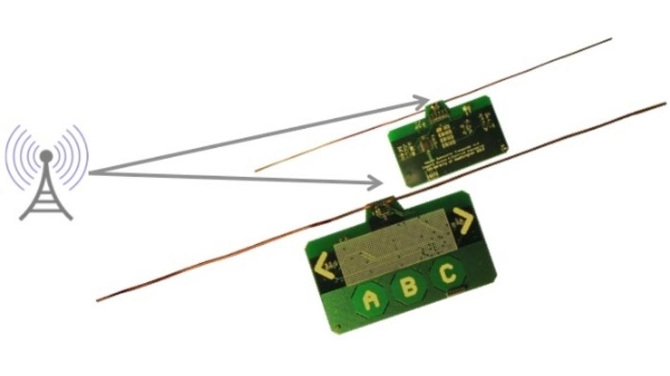 So groß wie eine Scheckkarte sind die Prototypen für die Ambient-Backscatter-Technik.