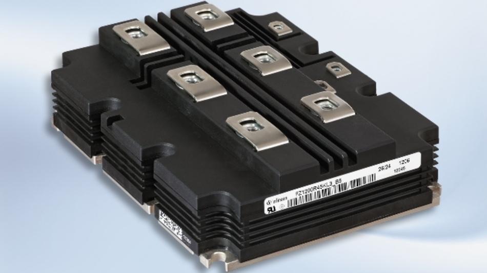 Das neue »IHV«-Modul für 4,5 kV basiert auf dem IGBT 3 mit Trench-Field-Stop-Technologie sowie einer Field-Stop-Diode und eignet sich besonders für Schienenfahrzeuge.
