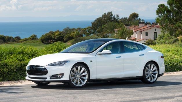 Erreichte 5 Sterne im amerikanischen NCAP Crashtest: Die Elektrolimousine Tesla Model S.