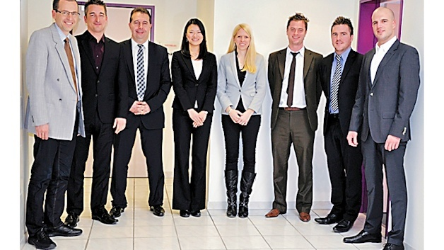 V.l.n.r: Markus Aebersold – Elfa-Distrelec: Strategic Purchaser; Richard Dines – Panasonic: Distribution Sales Manager; Dimitrios Deligeorgis – Elfa-Distrelec: Head Strategic Purchasing; Ayumi Kubo – Panasonic: Inside Sales Coordinator; Bettina Widmer – Elfa-Distrelec: Channel Marketing Manager: Maximilian Jakob – Panasonic: Product Marketing & Engineering Manager; Ian Needham – Panasonic: Key Account Manager Distribution;