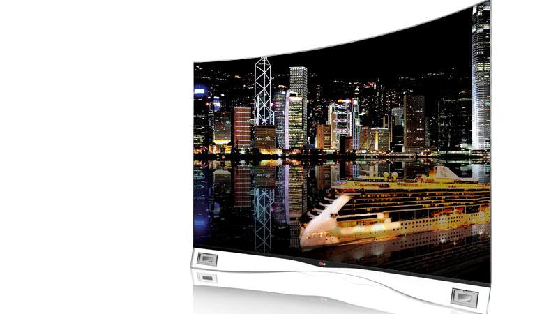 Der gebogene OLED-Fernseher EA9809. Ab nächste Woche kann man ihn auch in Deutschland kaufen.