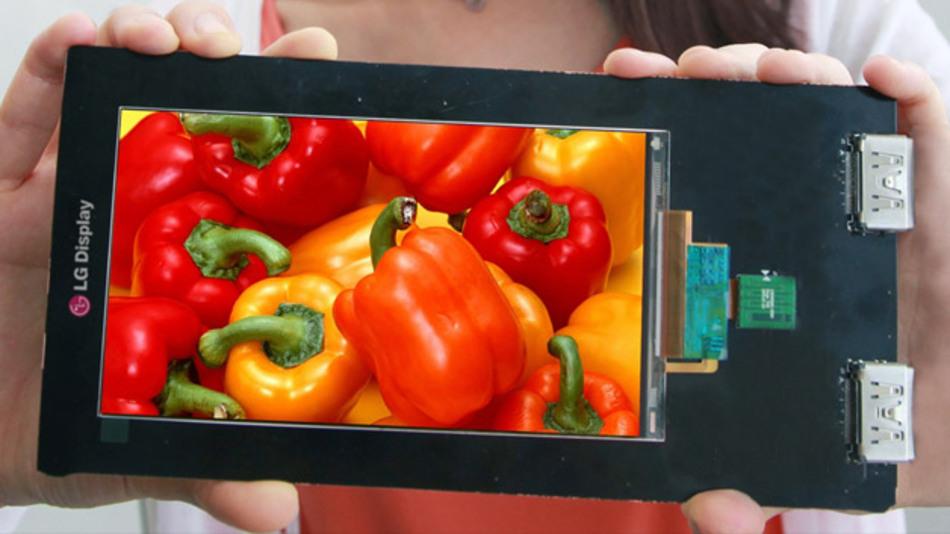 So sieht es aus, das derzeit hochauflösendste Smartphone-Display. Ob und wann es in einem Handy verbaut wird, steht allerdings noch nicht fest.