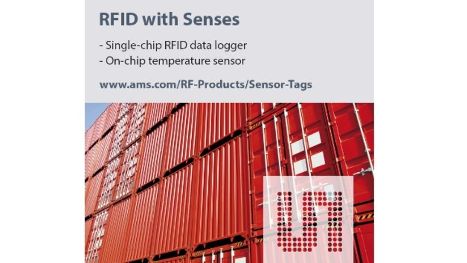 Die RFID-Tags SL13A und SL900A haben eine integrierte Sensorschnittstelle.