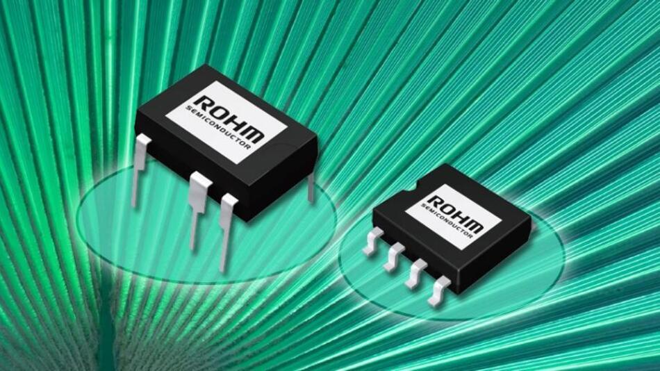Verfügbar im DIP7- und mit SOP8-Gehäuse: Die Netzteil-ICs der Serie BM2xxx/F von Rohm Semiconductor.