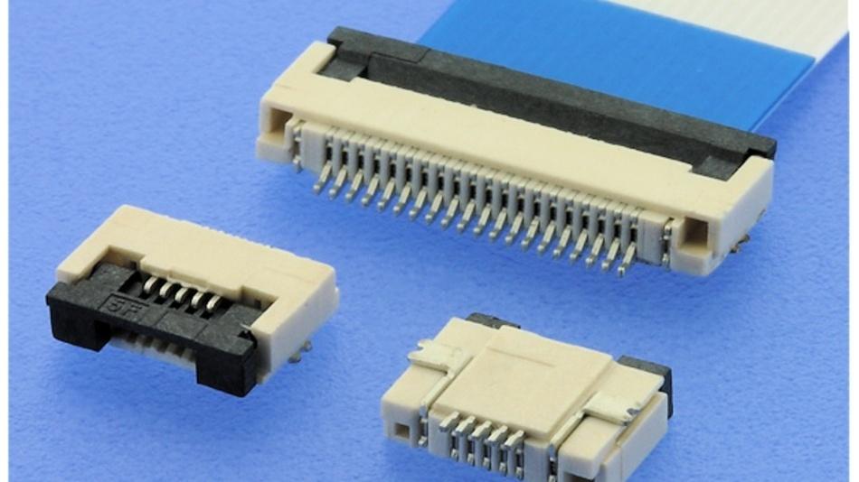 ZIF-Steckverbinder mit Klapp-Verriegelung
