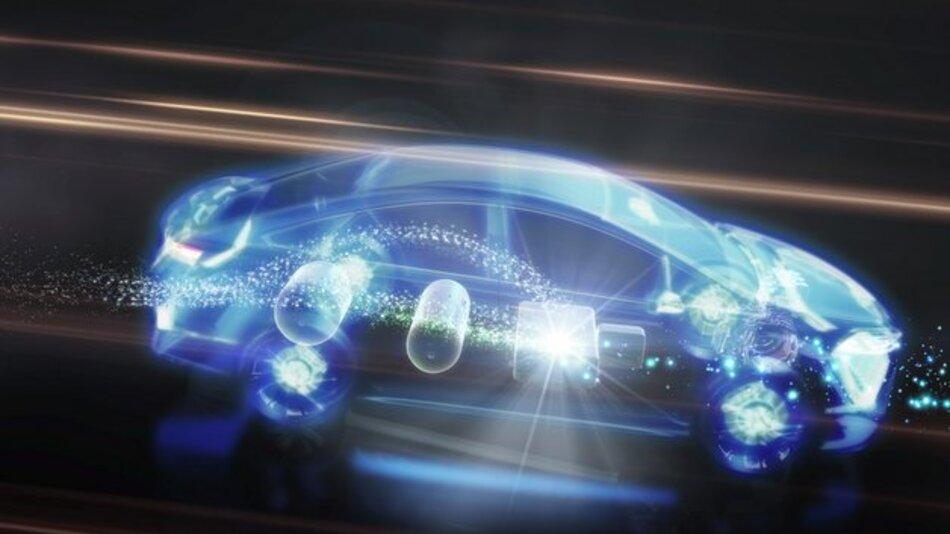 Das Brennstoffzellen-Hybridfahrzeug Toyota FCHV soll sich als vollwertiges Familienfahrzeug nutzen lassen.