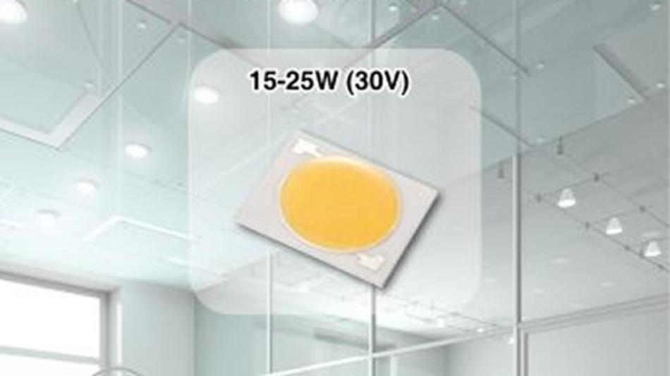 Die COB-LEDs der JU-Familie erreichen ein Verhältnis von 300 Lumen/Euro.