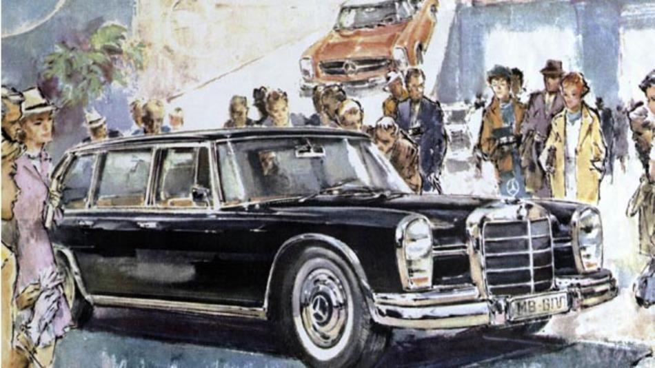 """Der """"große"""" Mercedes-Benz Typ 600 debütiert auf der IAA 1963."""