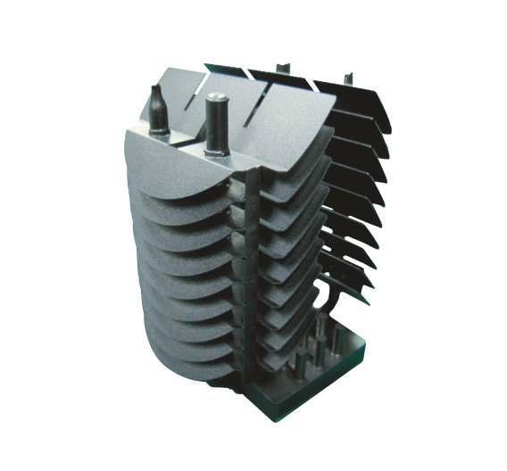 Einen neuen Maßstab bei der passiven Entwärmung von High-Power-LEDs setzt Sunon mit einem Spezialkühlkörper für LED-Module mit 35 W.
