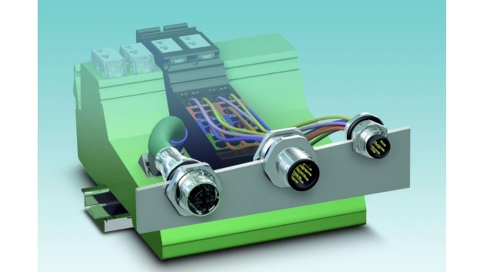 M12-Steckverbinder mit einsatzfertig vorkonfektionierten Litzen oder Rundleitungen eignen sich für kostengünstige Anschlusskonzepte im Schaltschrankbau sowie bei Geräten.