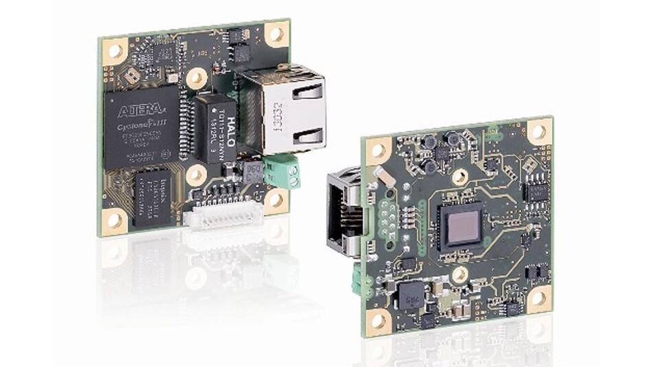 Kompakt gebaut ist die Boardlevel-Kamera »GigE uEye LE« von IDS Imaging Development Systems.