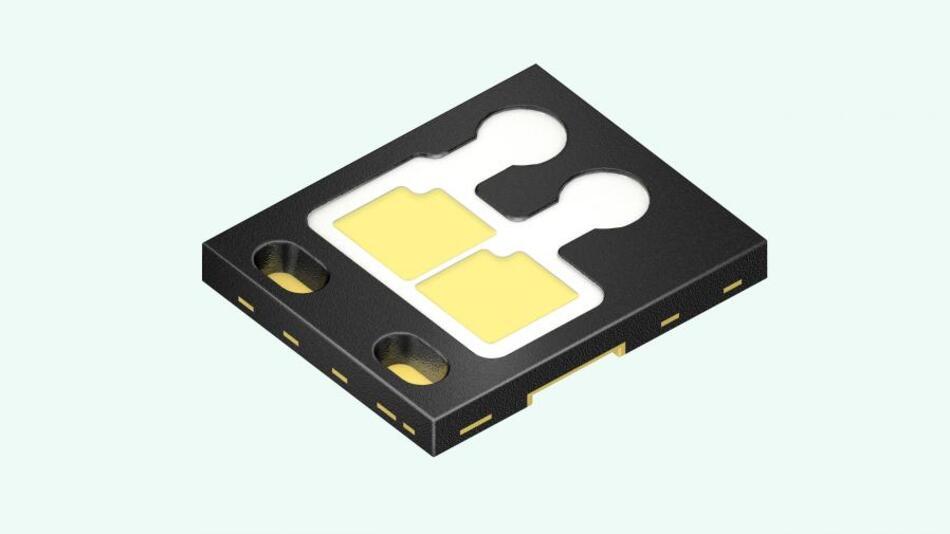 Die Oslon-Black-Flat-LED ist nun auch mit zwei Chips erhältlich.