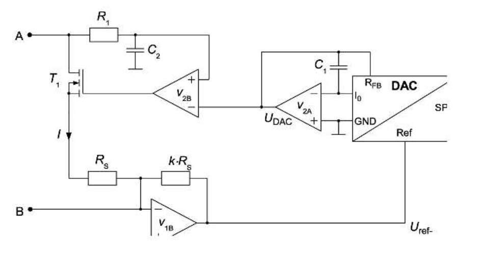 Bild 4: Schaltbild eines mit hoher Auflösung verstellbaren Präzisionswiderstandes
