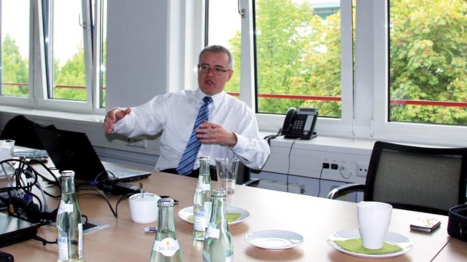 Bild 1. Ralf Bungenstock, Manager Product Marketing Connectivity der Phoenix Contact E-Mobility GmbH über Wachstumsstrategie, die Wichtigkeit der Normung, China und induktives Laden.