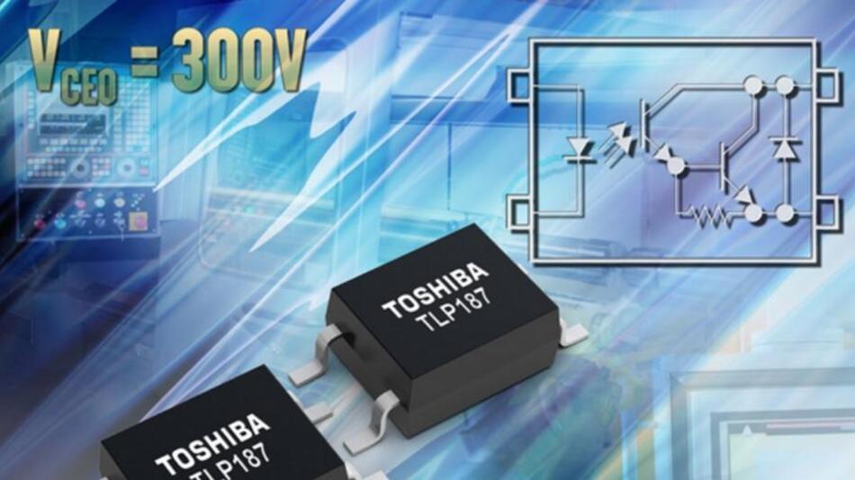 Der Optokoppler  TLP187 kann im erweiterten Temperaturbereich von 55 bis +110 °C betrieben werden.
