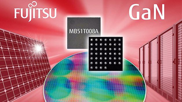 Fujitsu liefert seit Juli 2013 erste Produktmuster des Galliumnitrid-Leistungshalbleiters MB51T008A aus. Der selbstsperrende GaN-Baustein auf Siliziumbasis hat eine Durchlassspannung von 150 V.
