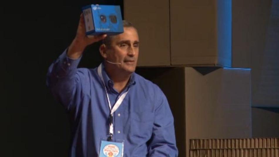 Brian Krzanich stellt Intels Arduino-Board Galileo vor