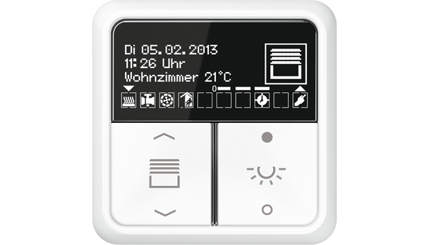 jung neuer knx raumcontroller oled elektroboerse. Black Bedroom Furniture Sets. Home Design Ideas
