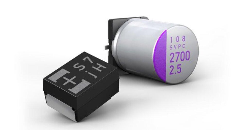 Elektrolytkondensatoren von Panasonic.